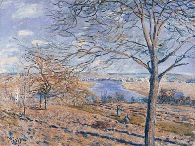 Banks of the Loing - Autumn Effect, 1881-Alfred Sisley-Framed Giclee Print