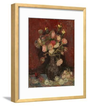 Vase with Chinese Asters and Gladioli, 1886-Vincent van Gogh-Framed Giclee Print