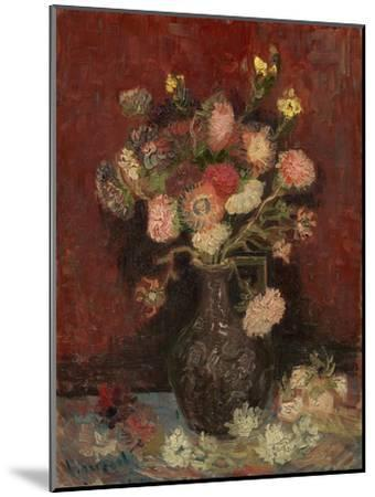 Vase with Chinese Asters and Gladioli, 1886-Vincent van Gogh-Mounted Giclee Print