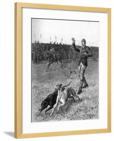 Coursing: Slipping the Greyhounds, 1887-Stephen T Dadd-Framed Giclee Print
