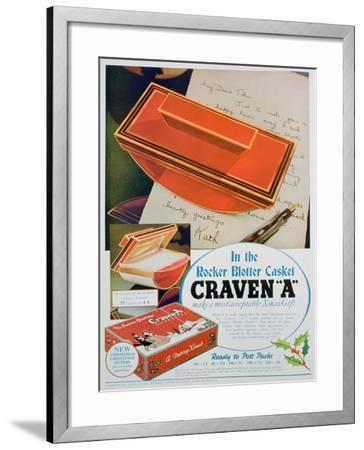 Advert for Craven 'A' Cigarettes, 1936--Framed Giclee Print