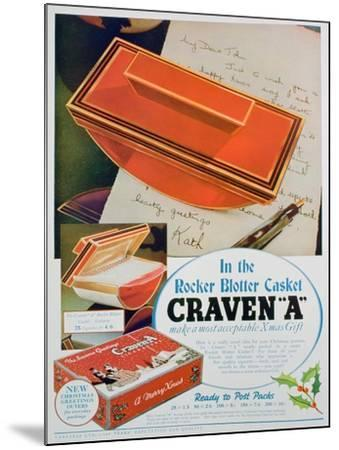 Advert for Craven 'A' Cigarettes, 1936--Mounted Giclee Print