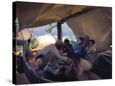 Lunch on the Boat-Joaqu?n Sorolla y Bastida-Stretched Canvas Print