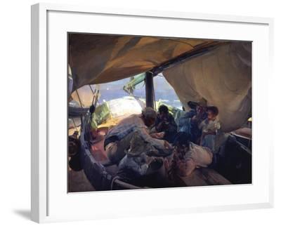 Lunch on the Boat-Joaqu?n Sorolla y Bastida-Framed Giclee Print
