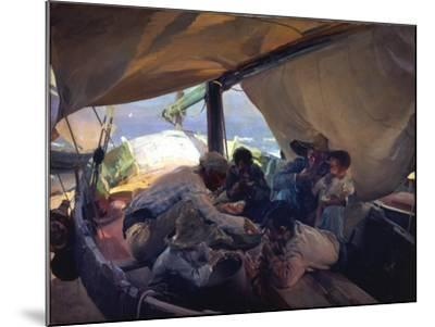 Lunch on the Boat-Joaqu?n Sorolla y Bastida-Mounted Giclee Print