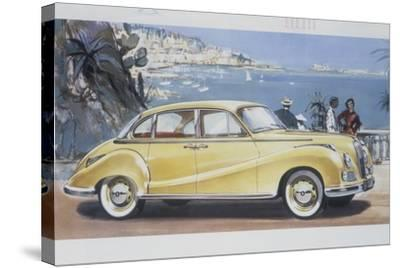 Poster Advertising a Bmw 502 Car, 1957--Stretched Canvas Print