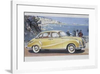 Poster Advertising a Bmw 502 Car, 1957--Framed Giclee Print