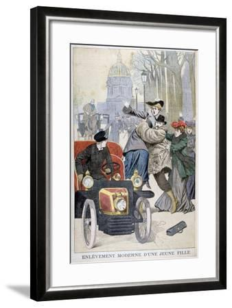 Kidnapping of a Young Woman in Paris, 1902--Framed Giclee Print