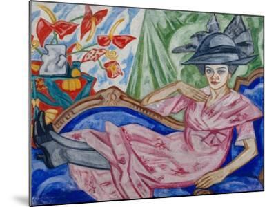 Portrait of the Artist's Sister, 1912-Olga Vladimirovna Rozanova-Mounted Giclee Print