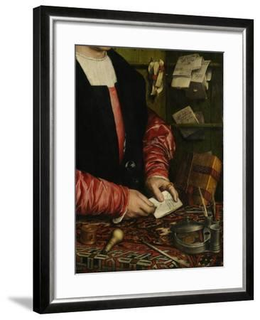 The Merchant Georg Gisze (Detail), 1532-Hans Holbein the Younger-Framed Giclee Print