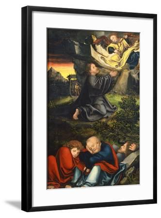 The Agony in the Garden, Ca 1518-Lucas Cranach the Elder-Framed Giclee Print
