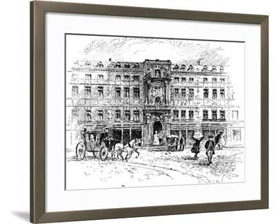The Old Mercers Hall, London, 1909--Framed Giclee Print