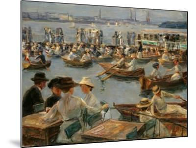 On the Alster in Hamburg, 1910-Max Liebermann-Mounted Giclee Print