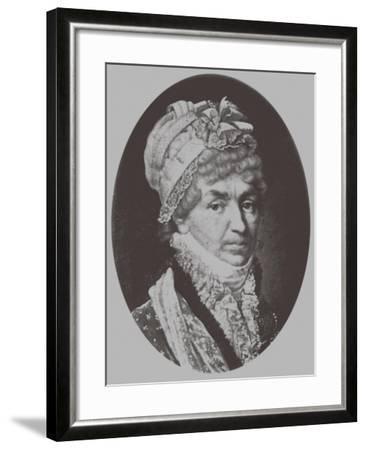 Portrait of Princess Natalya Petrovna Galitzine (1741-183), 1870-Andrey Mikhaylovich Lushev-Framed Giclee Print