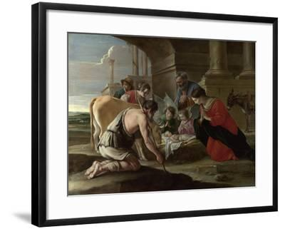 The Adoration of the Shepherds, C. 1640-Louis Le Nain-Framed Giclee Print