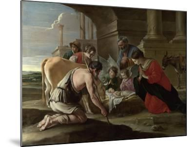 The Adoration of the Shepherds, C. 1640-Louis Le Nain-Mounted Giclee Print