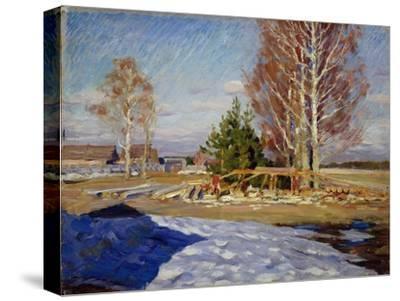 Spring Landscape, 1915-Sergei Arsenyevich Vinogradov-Stretched Canvas Print