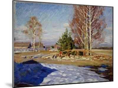 Spring Landscape, 1915-Sergei Arsenyevich Vinogradov-Mounted Giclee Print