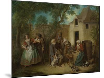 The Four Ages of Man: Old Age, Ca 1735-Nicolas Lancret-Mounted Giclee Print