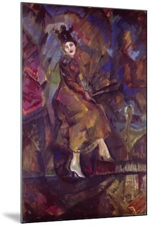Portrait of Panna Paskevich-Georgi Bogdanovich Yakulov-Mounted Giclee Print