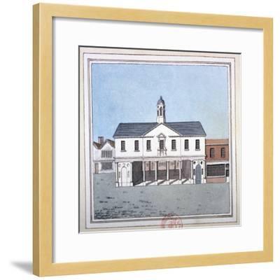 View of Romford Market House, Essex, C1800--Framed Giclee Print