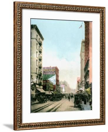 Spring Street, Los Angeles, California, USA, C1900s--Framed Giclee Print