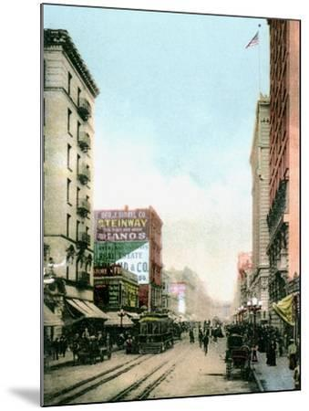 Spring Street, Los Angeles, California, USA, C1900s--Mounted Giclee Print