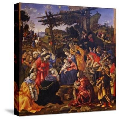 The Adoration of the Magi, 1496-Filippino Lippi-Stretched Canvas Print