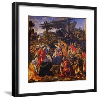 The Adoration of the Magi, 1496-Filippino Lippi-Framed Giclee Print