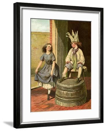 Penny Royal and Columbine, 1866-1895--Framed Giclee Print