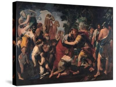 Meeting Between Esau and Jacob, 1636-1641-Giovanni Maria Bottala-Stretched Canvas Print