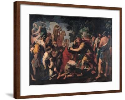 Meeting Between Esau and Jacob, 1636-1641-Giovanni Maria Bottala-Framed Giclee Print
