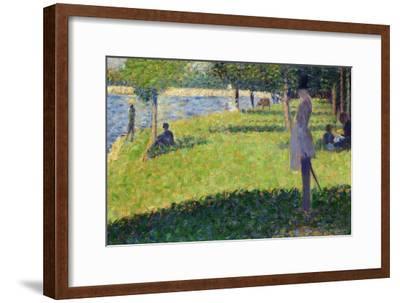 Study for La Grande Jatte, 1884-1885-Georges Seurat-Framed Giclee Print