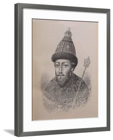 Portrait of the Tsar Michail I Fyodorovich of Russia (1596-164)--Framed Giclee Print