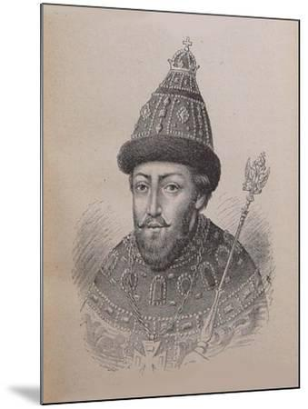Portrait of the Tsar Michail I Fyodorovich of Russia (1596-164)--Mounted Giclee Print