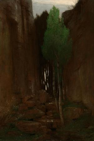 Spring in a Narrow Gorge, 1881-Arnold B?cklin-Stretched Canvas Print