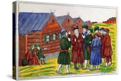 Farmer Reunion, 1858--Stretched Canvas Print