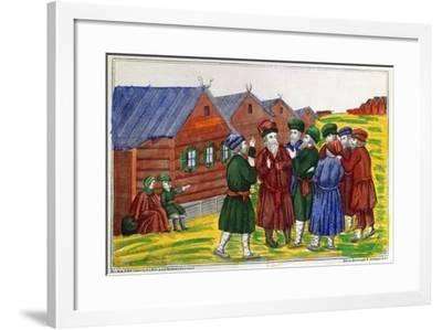 Farmer Reunion, 1858--Framed Giclee Print