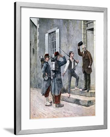 The Billet, after a Painting by Cres, 1892--Framed Giclee Print