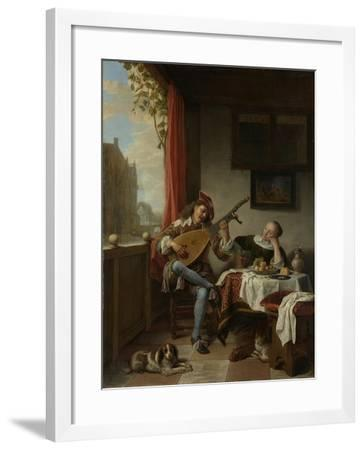 Zealand Landscape, 1842-Johan Thomas Lundbye-Framed Giclee Print