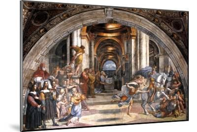 The Expulsion of Heliodorus, 1511-1512-Raphael-Mounted Giclee Print
