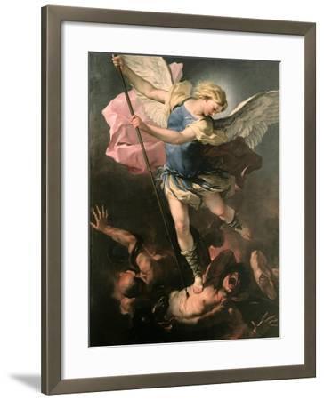 Saint Michael the Archangel, Ca 1663-Luca Giordano-Framed Giclee Print