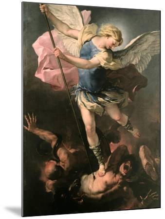 Saint Michael the Archangel, Ca 1663-Luca Giordano-Mounted Giclee Print