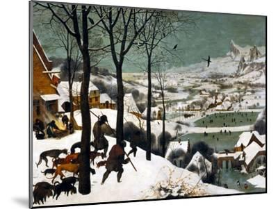 Hunters in the Snow (Winte), 1565-Pieter Bruegel the Elder-Mounted Giclee Print