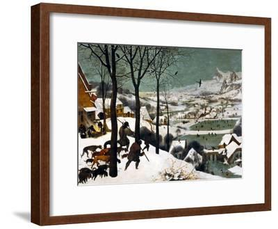 Hunters in the Snow (Winte), 1565-Pieter Bruegel the Elder-Framed Giclee Print