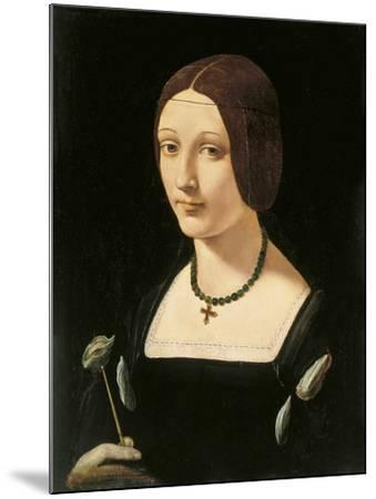 Portrait of a Lady as Saint Lucy-Giovanni Antonio Boltraffio-Mounted Giclee Print