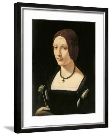 Portrait of a Lady as Saint Lucy-Giovanni Antonio Boltraffio-Framed Giclee Print