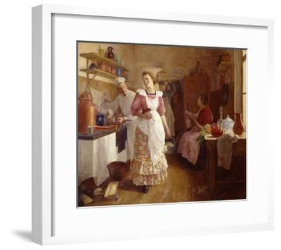 In the Kitchen, 1913-Olga Vasilyevna Ivanova-Bronevskaya-Framed Giclee Print