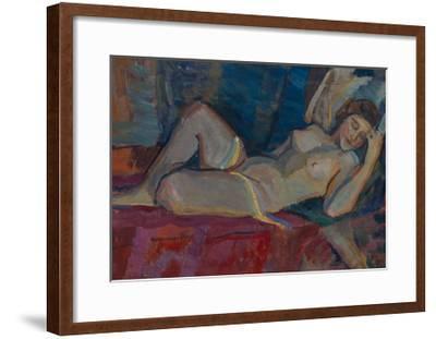 Nude. the Zone of Venus, 1919-Nikolai Pavlovich Ulyanov-Framed Giclee Print