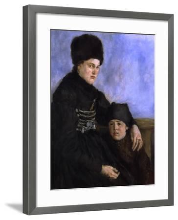 Dachau Woman with Child, 1873-1874-Wilhelm Leibl-Framed Giclee Print
